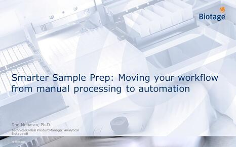 Smarter Sample Prep Moving your workflow from manual processing to automation