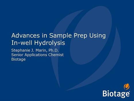 Advances in Sample Prep Using In-Well Hydrolysis